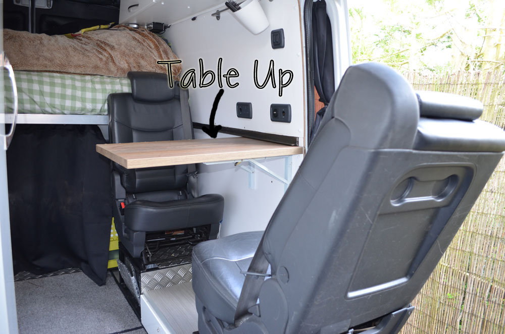 the table sprinter van conversion our advanture. Black Bedroom Furniture Sets. Home Design Ideas