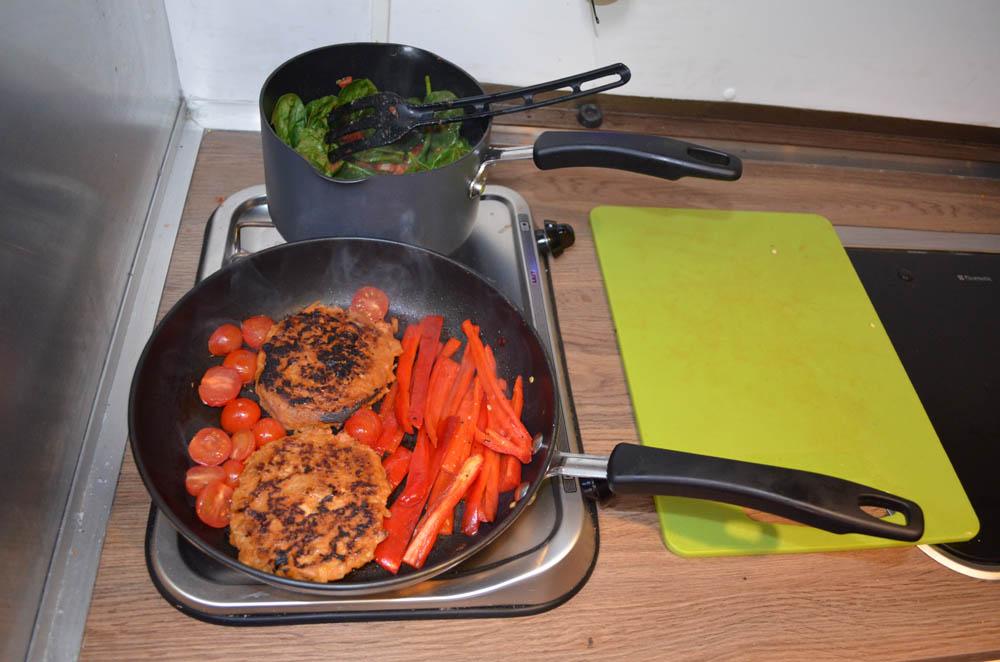 vegan campervan lunch