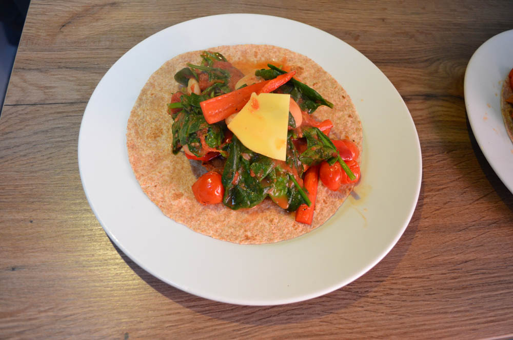 vegan suasage wrap
