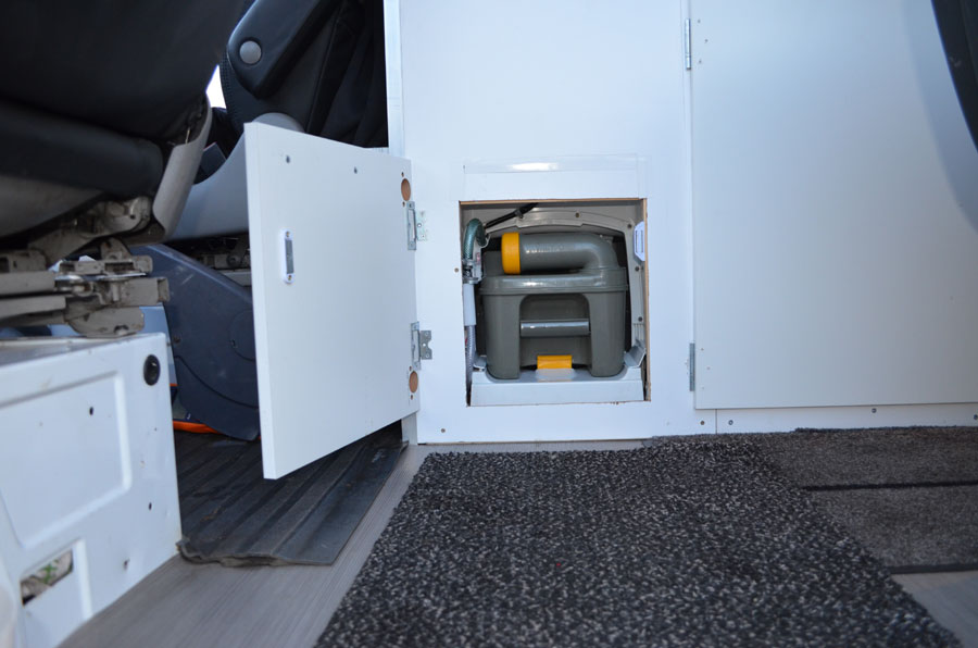 Toilet Waste Sprinter Van