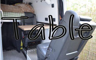 The Table – Sprinter Van Conversion