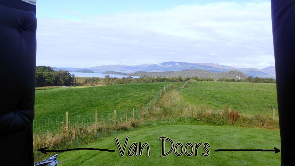 view from bed loch lomond