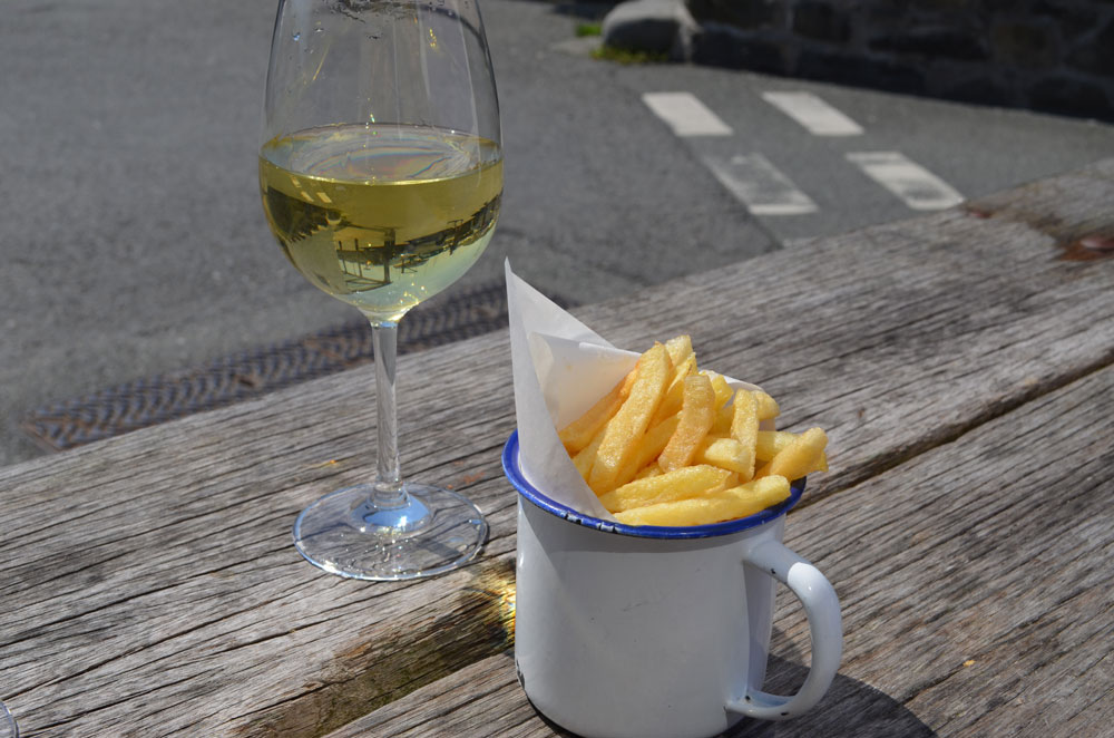 Wine and Chips in Aberaeron