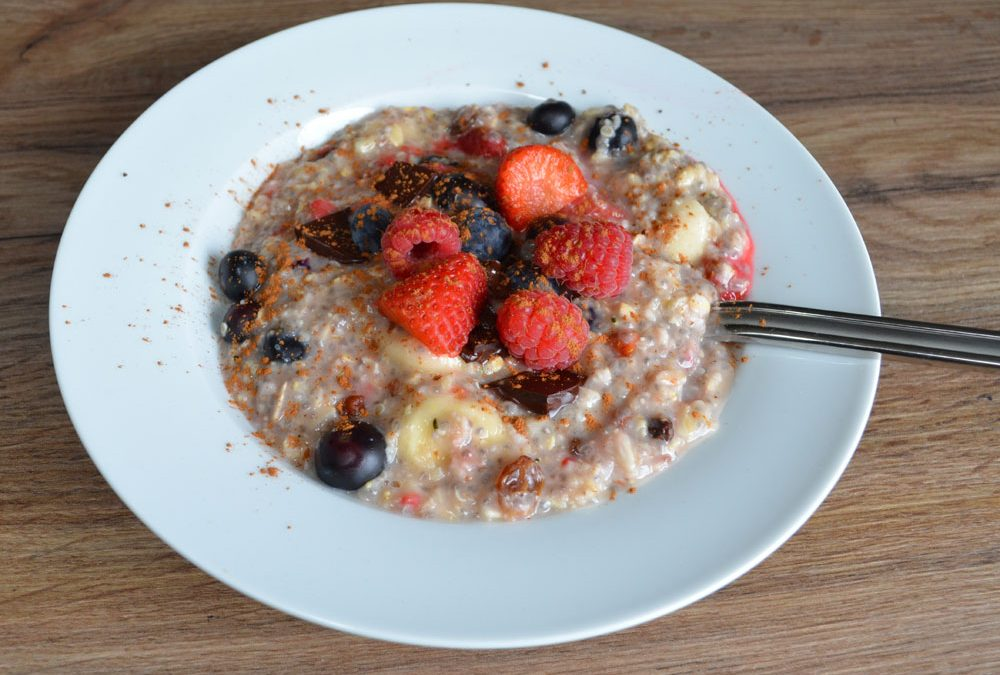 Yummy Vegan Chocolate Breakfast Oats